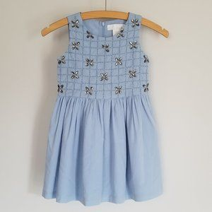 Beaded Blue Party Dress (5/6 yrs)